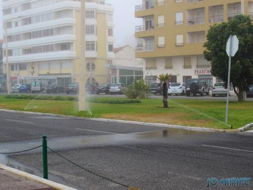 Regador virado para a estrada só serve para lavar os carros na Figueira da Foz (1) [en] Watering facing the road only serves to wash the cars