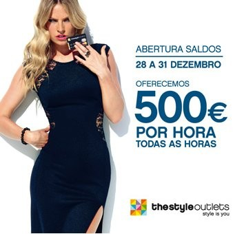 Saldos outlet, descontos a dobrar