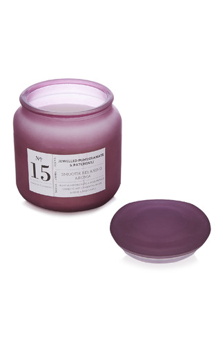 kimball-0020912-no.15 frosted jar candle purple, g