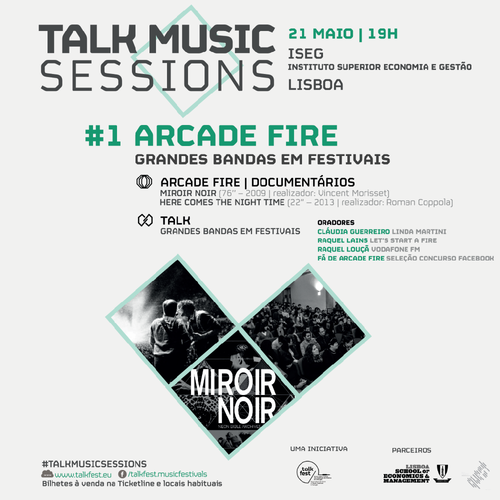 Arcade fire em destaque no talk music sessions for Arcade fire dvd miroir noir