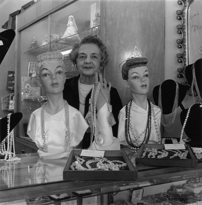 Ms. Bennet in her jewelry store on West Street, 19