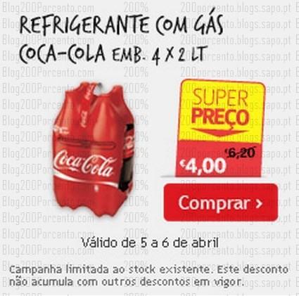 Super Preço | CONTINENTE | Coca-Cola dia 5 e 6 abril