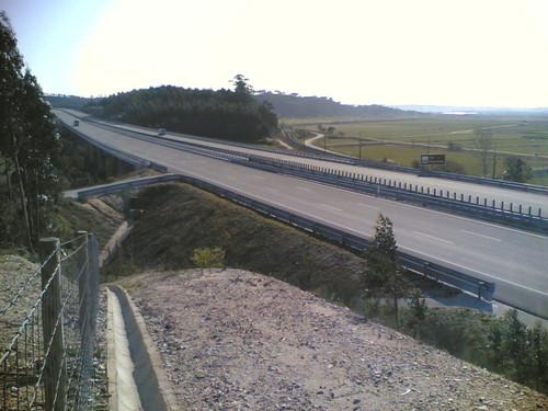 A17 na subida de Reveles, Coimbra