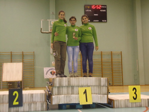 1º Lugar Equipas - Juniores Recurvo