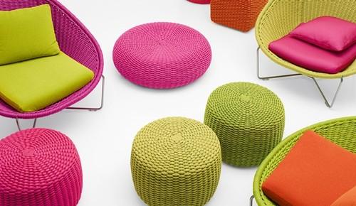 ideias jardim exterior:Mobiliário de jardim em todas as cores – Decoração e Ideias