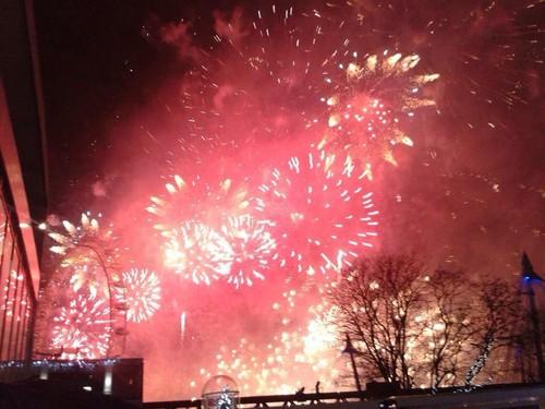 Fogos de artifício de entrada em 2014 em Londres