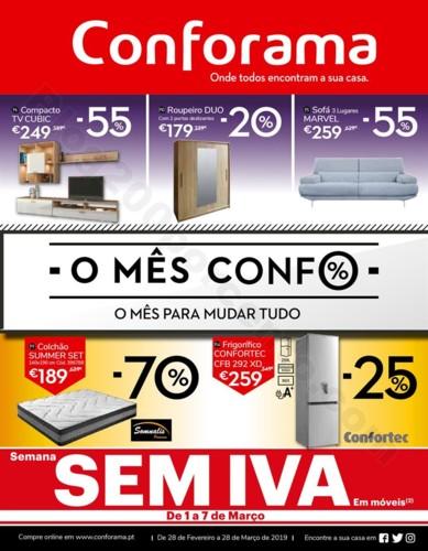Antevisão Folheto CONFORAMA Promoções de 28 fev