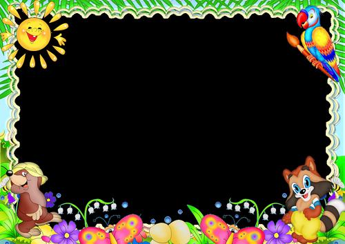 molduras infantis coloridas
