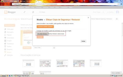 Fazer upload do ficheiro xml