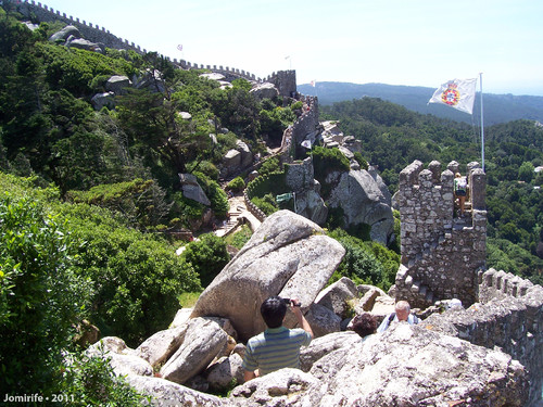Sintra: Castelo dos Mouros - Muralha