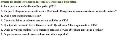 perguntas certificação energética