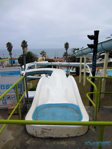 Aquaparque Teimoso na Figueira da Foz (8) Topo do escorrega [en] Teimoso Aqua park in Figueira da Foz Portugal
