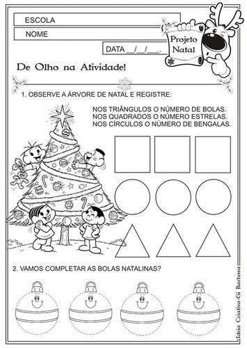 Atividades Natalicias Para Educacao Infantil E 1º Ano O Mundo