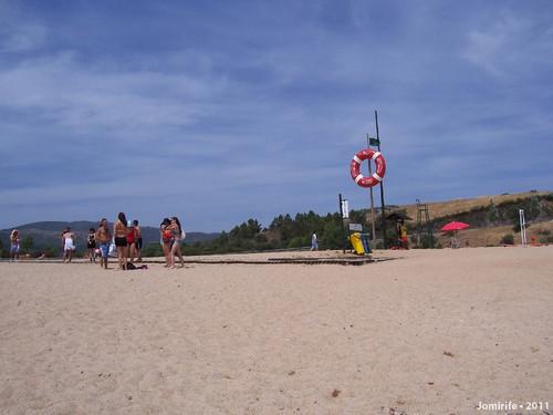 Praia fluvial do Azibo - Areia
