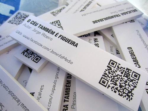 Montagem da exposição colectiva de Fotografia «Figueira da Foz, aqui sou feliz» em comemoração do 131º aniversário da Elevação da Figueira da Foz a Cidade - QR Codes de cada um dos autores