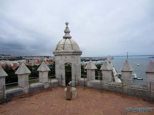 Lisboa - Torre de Belém (14) Terraço [en] Lisbon - Belem Tower - Terrace
