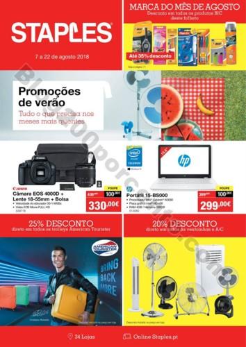 Antevisão Folheto STAPLES Promoções de 7 a 22 a