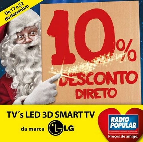 10% desconto direto   RADIO POPULAR   de 17 a 22 dezembro
