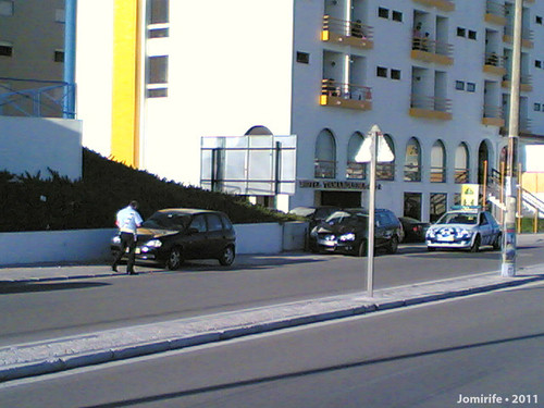 Multas de estacionamento no passeio em Buarcos