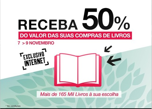 50% desconto   FNAC   Livros