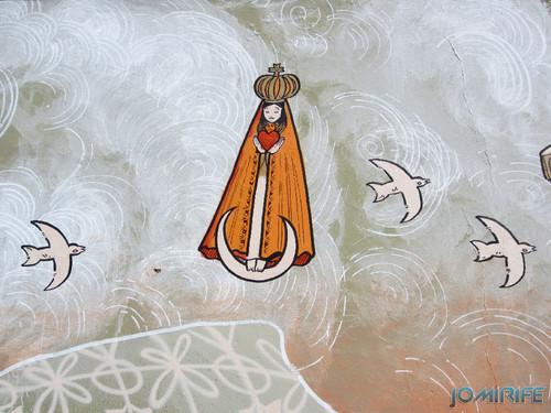 Arte Urbana by Mário Belém - Peixe laranja/Imaginário no CAE na Figueira da Foz Portugal - Elemento nossa senhora (24) [en] Urban art by Mário Belém - Orange Fish/Imaginary in Art Center Figueira da Foz, Portugal