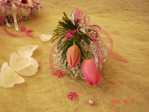 porta alianças tulipas