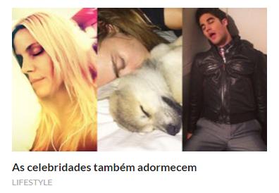As celebridades adormecem - Sapo Lifestyle