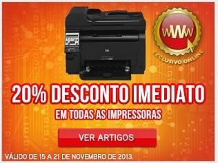 20% de desconto imediato | WORTEN | Impressoras, até 21 novembro