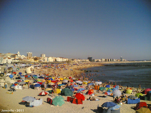 Praia de Buarcos cheia (9 Agosto 2011)