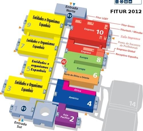 Mapa FITUR - Feira Internacional de Turismo