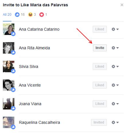Exemplo - Facebook Maria das Palavras