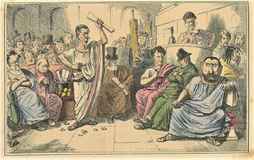 Cícero denuncia Catilina%2c gravura de John Leech