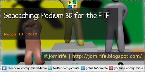 Blog: Geocaching - Podium 3D for the FTF
