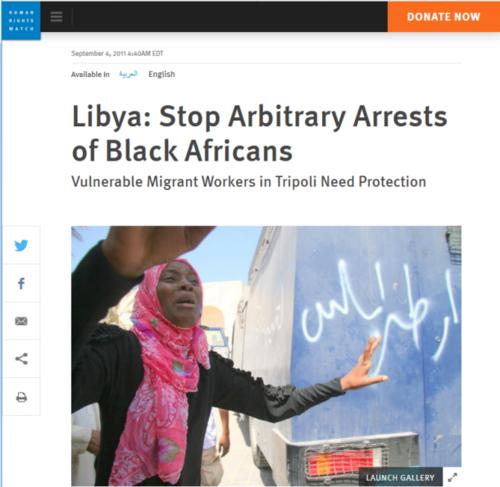 migrantes negros racismo líbia