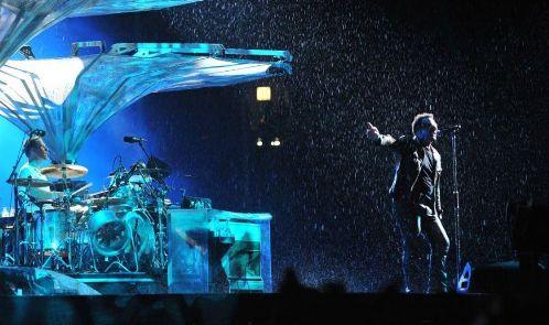 Bono em palco Foto:AFP