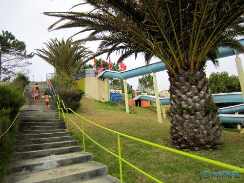 Aquaparque Teimoso na Figueira da Foz (6) Escadas para o topo [en] Teimoso Aqua park in Figueira da Foz Portugal