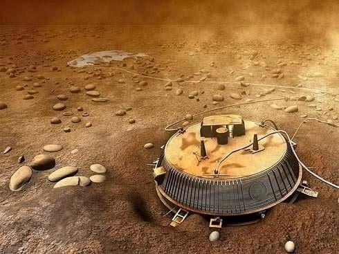 Huygens na superfície de Titã