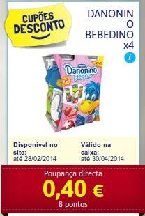 Acumulação 75% desconto   CONTINENTE   Iogurtes