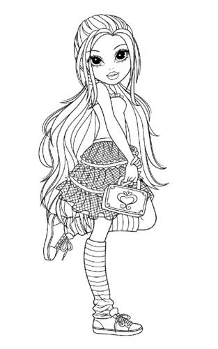 moxie girlz coloring pages - moxie girlz para colorir