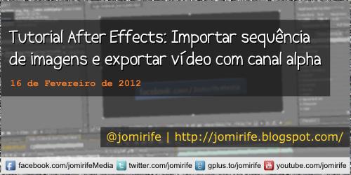 Blog: After Effects Importar sequência de imagens