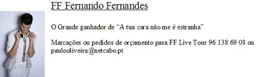 Informação de contactos para trabalhos de FF - Recomendação de Nelson Camacho