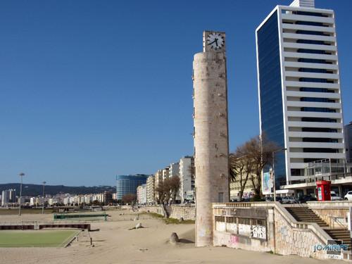 As torres da frente da Figueira da Foz