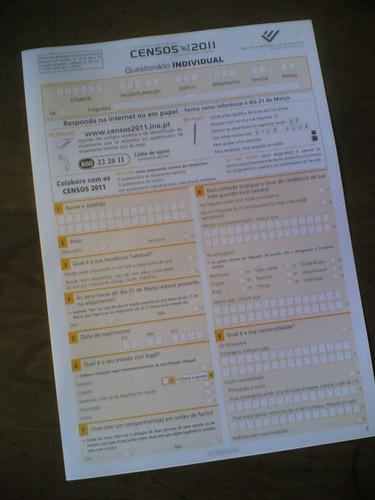 Censos 2011: Formulário