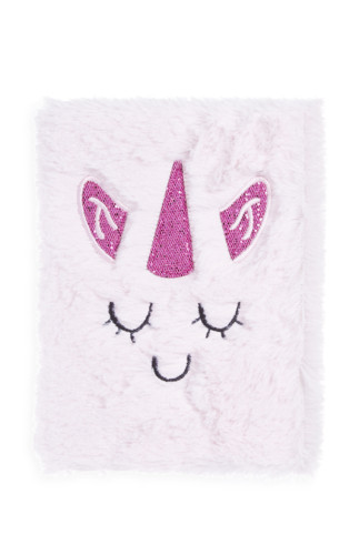 Kimball-1578401-Fluffy A5 Unicorn Noteboo, UK D, N