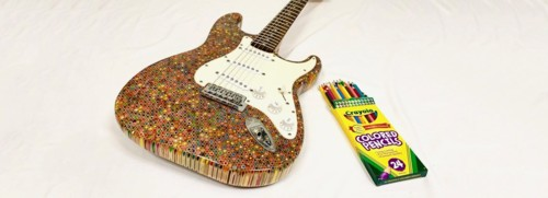 electric-guitar-built-from-1200-crayola-colored-pe