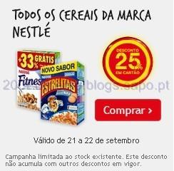 25% em Cereais Nestlé