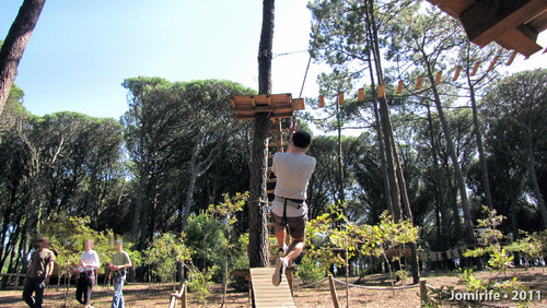 Parque Aventura: Slide para o solo