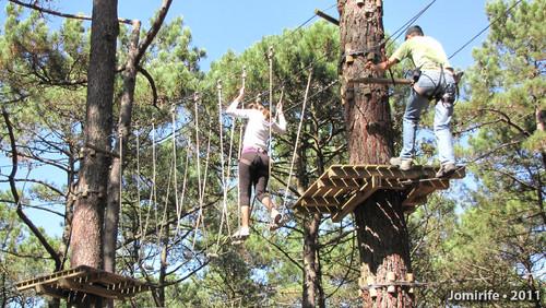 Parque Aventura: Pelas cordas lá no alto
