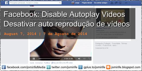 Blog post: Desativar reprodução automatica video