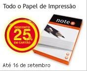 25% em papel de impressão no continente